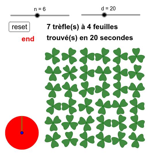 Cliquer sur le trèfle à 4 feuilles (clic on four leaf clovers) Press Enter to start activity