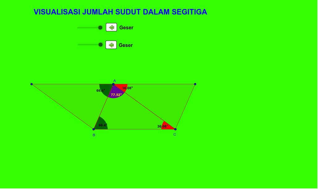 Sudut dalam segitiga Press Enter to start activity