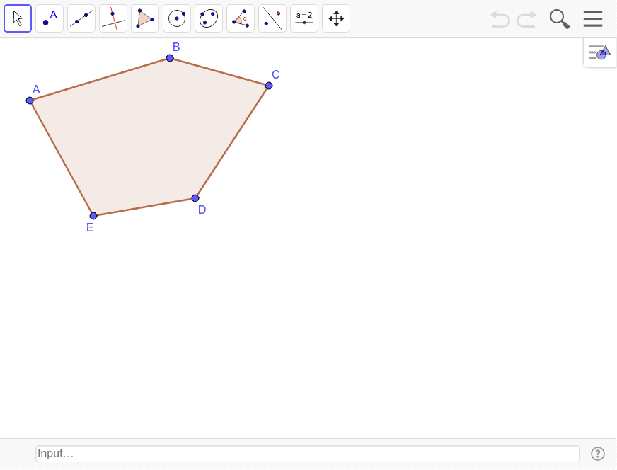 Construct a polygon that is congruent to polygon ABCDE Press Enter to start activity
