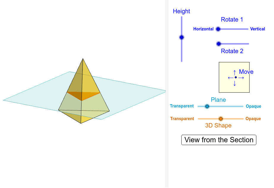 Cross-Section of Triangular Pyramid Interactive Press Enter to start activity