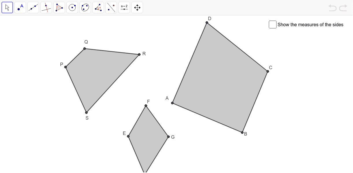 Identify the circumscribable quadrilaterals Press Enter to start activity