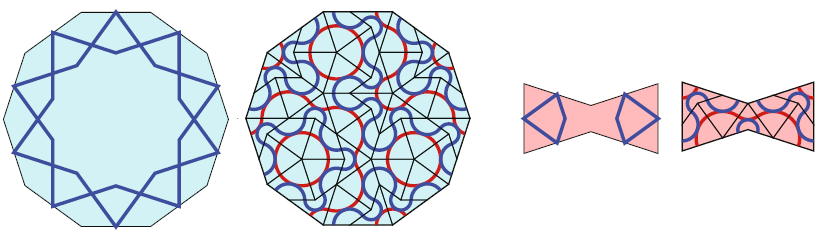 Penrose filling of decagon and bowtie