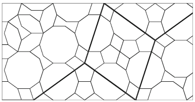 This drawing shows the girih tiles of both levels: