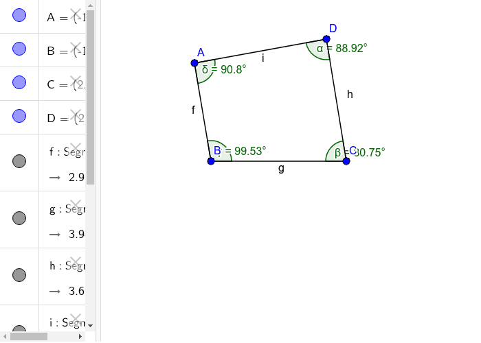 sum of all interior angles of a quadrilateral is 360 Press Enter to start activity
