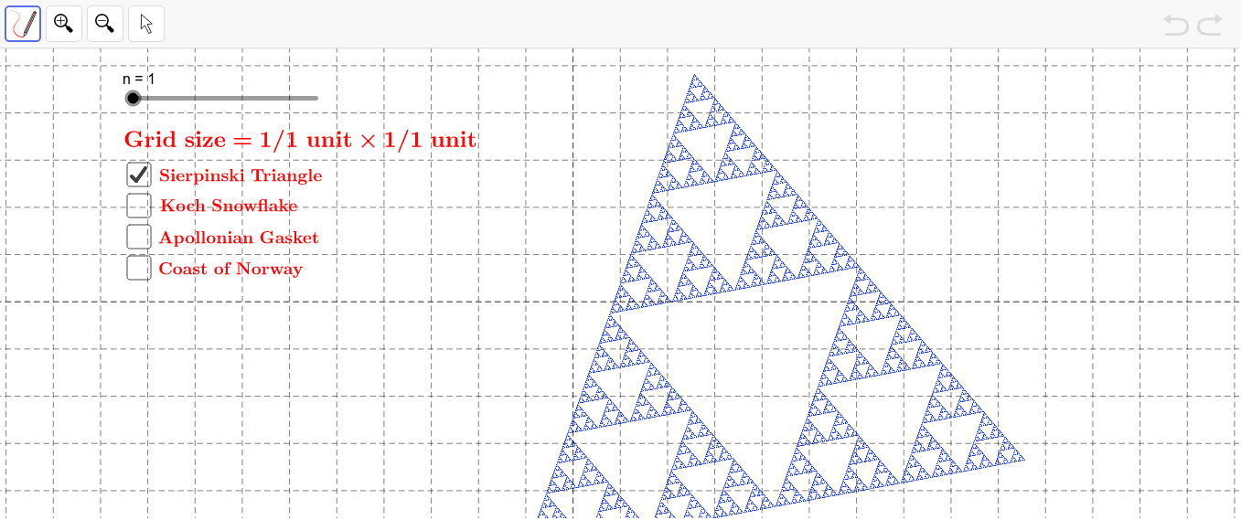 Move the slider to change the size of the grid. Press Enter to start activity