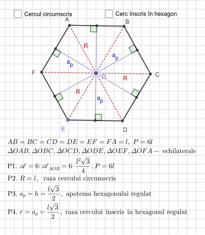 Hexagon regulat Apăsați Enter pentru a începe activitatea