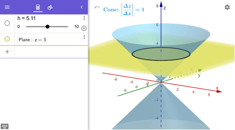 In the app below, use the tools of GeoGebra to prove your assertion is correct.  Press Enter to start activity