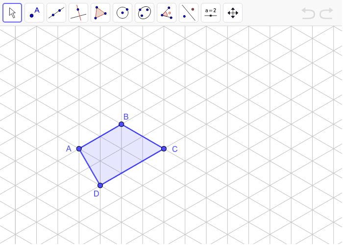 Dilate quadrilateral ABCD using center D and scale factor 2. Press Enter to start activity