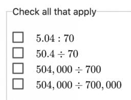 Dividing Decimals by Decimals: IM 6.5.13