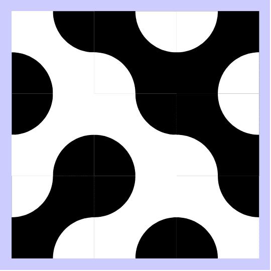 Clique nos cantos para rotacionar as peças em 90º e nos centros para invertê-las (verso).  Press Enter to start activity