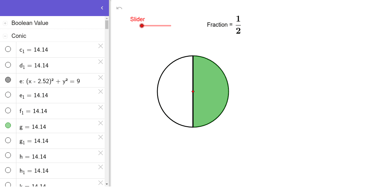 Visualisation of equivalent fractions Press Enter to start activity