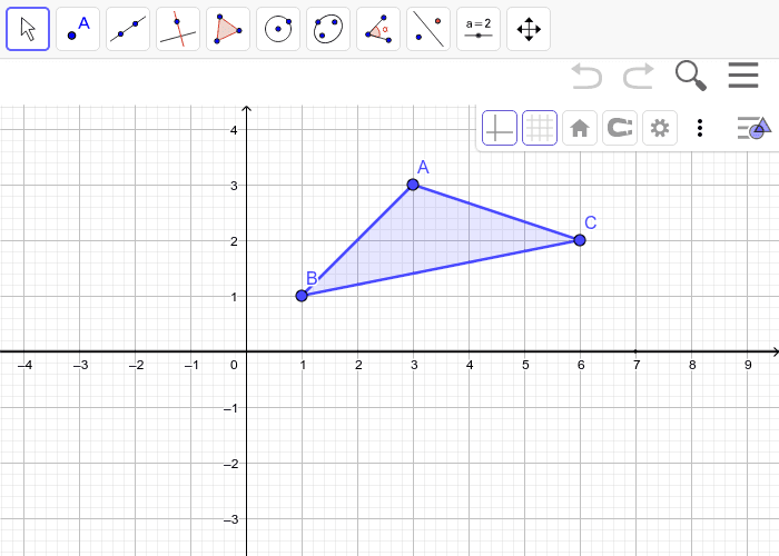 Reflect triangle ABC over the x-axis Press Enter to start activity