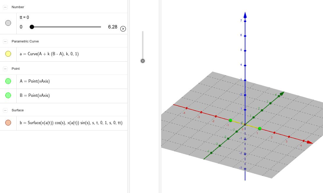 Generación de una superficie helicoidal a partir de un segmento Presiona Intro para comenzar la actividad
