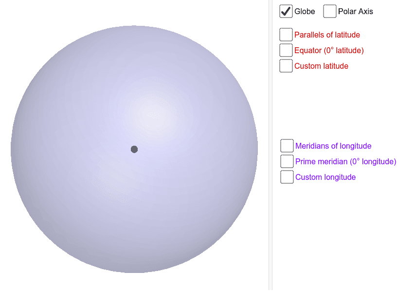 Click and drag the background to rotate the sphere. There is a reset button in the top right corner. Press Enter to start activity
