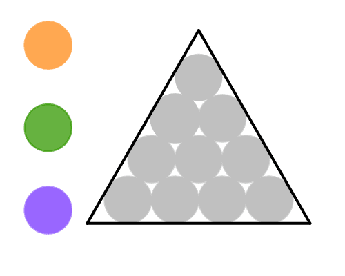 Click on the gray circles to change their colors. Press Enter to start activity