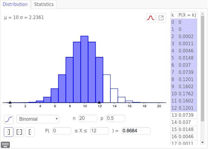 Binomial Distribution - interactive Press Enter to start activity