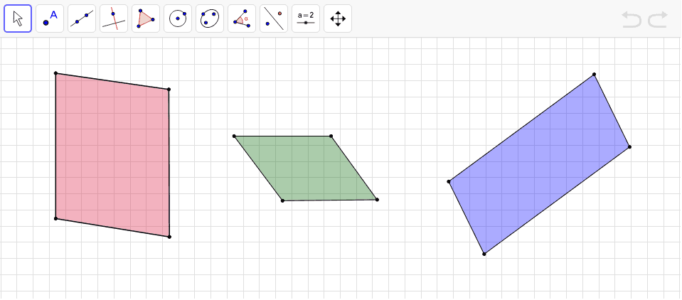 Pārbaudi, vai paralelogramā var ievilkt un ap paralelogramu var apvilkt riņķa līniju! Press Enter to start activity