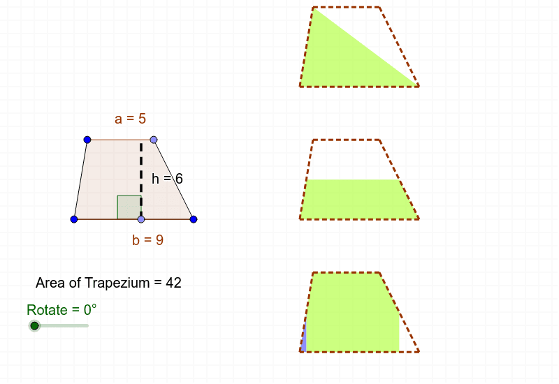 Area of a Trapezium (Derivations) Press Enter to start activity