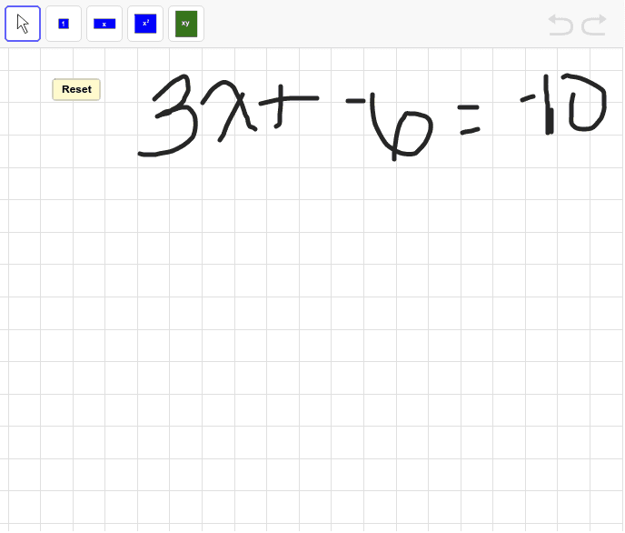 Model the following equations using algebra tiles. Press Enter to start activity