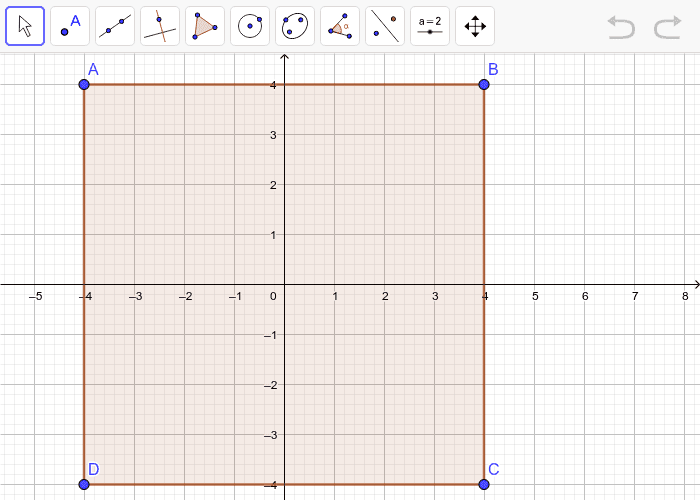 Graph the image of square ABCD after dilation with a scale factor of 2.  Press Enter to start activity