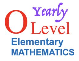 E Math O Level Yearly