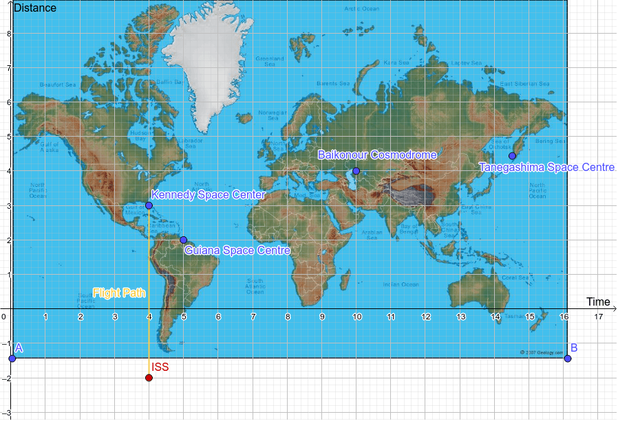 Map of Launch Sites Worldwide Press Enter to start activity