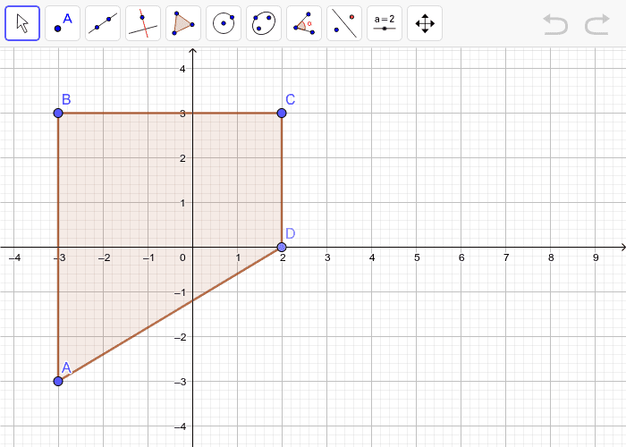 Graph the image of quadrilateral ABCD after a dilation with a scale factor of 3.  Press Enter to start activity