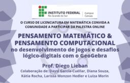 Pensamento Matemático e Pensamento Computacional