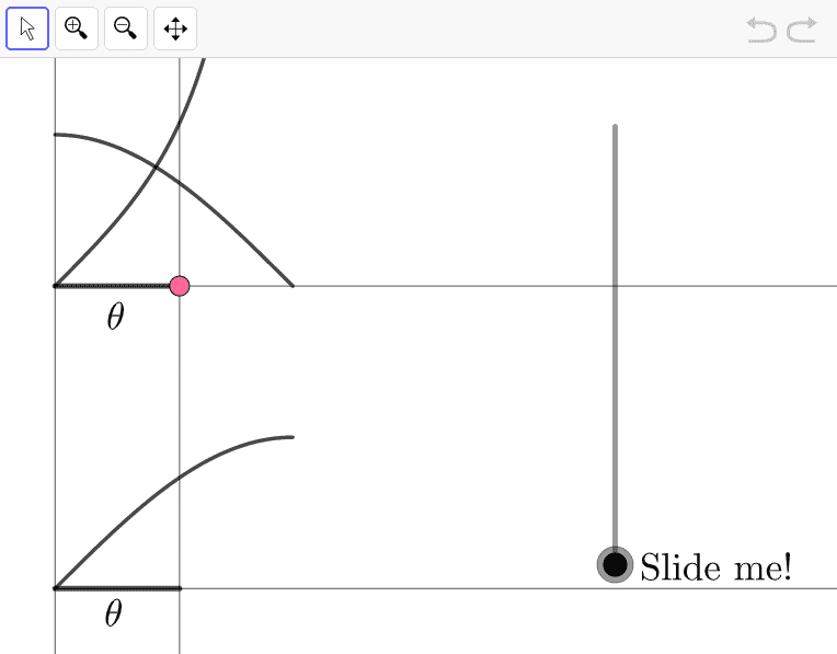 Move the LARGE COLORED POINT anywhere you want on the horizontal axis.  Then slide the slider slowly & observe what happens.   Press Enter to start activity