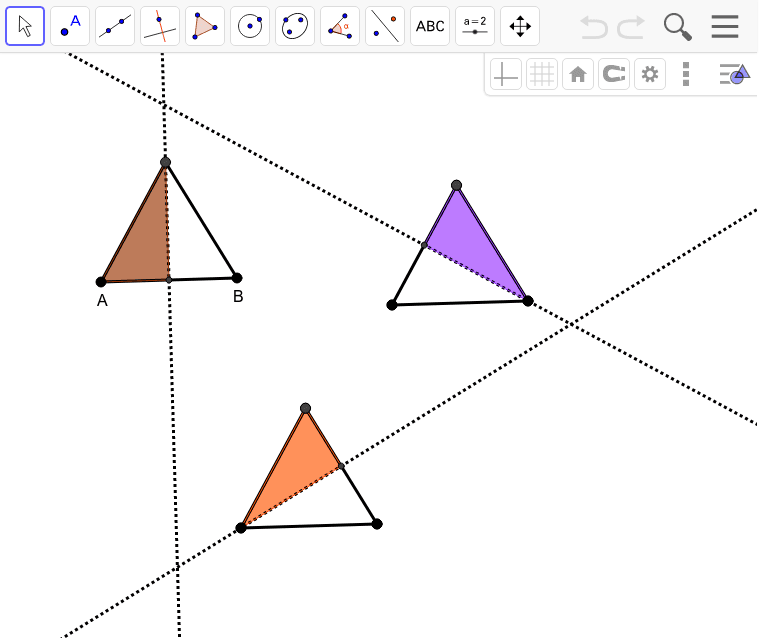 Equilateral Triangle Reflection Symmetry Press Enter to start activity