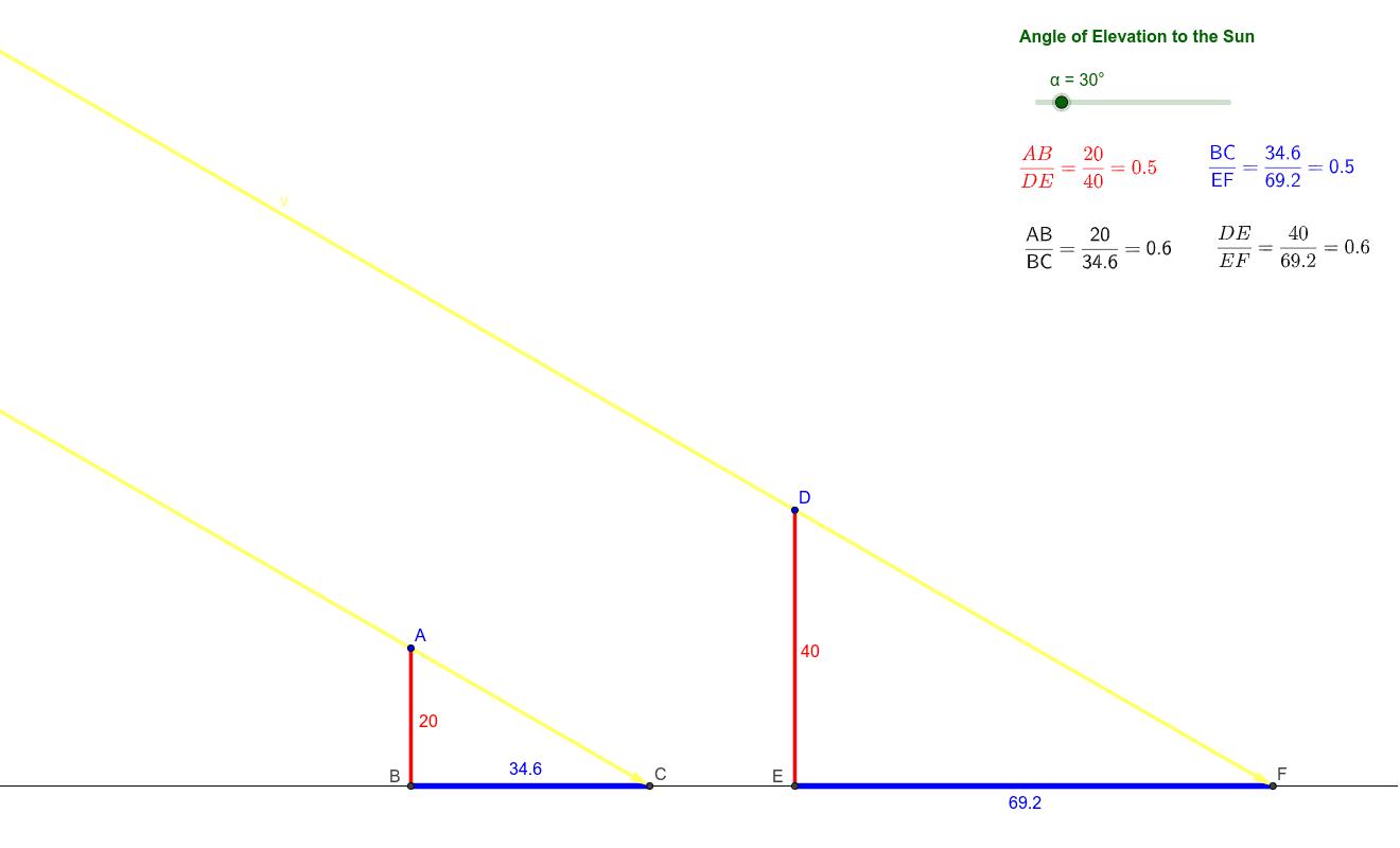 Similar Triangles Applet Press Enter to start activity