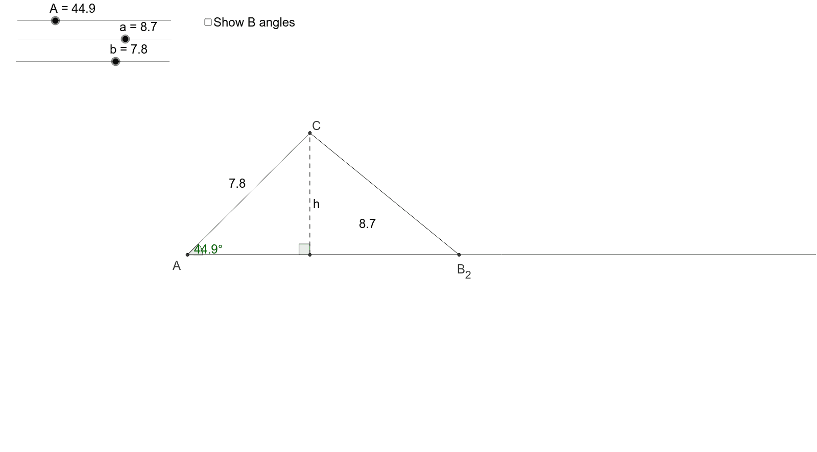 Use the applet to help you discover the ambiguous case of the Law of Sines! Press Enter to start activity