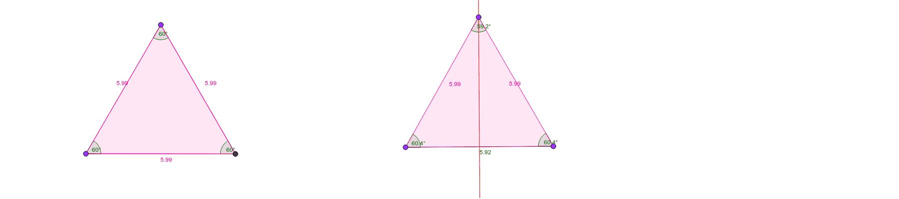 Triangles in GeoGebra Press Enter to start activity