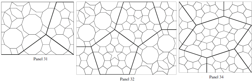 On other panels of the scroll too we can find 2-layered patterns