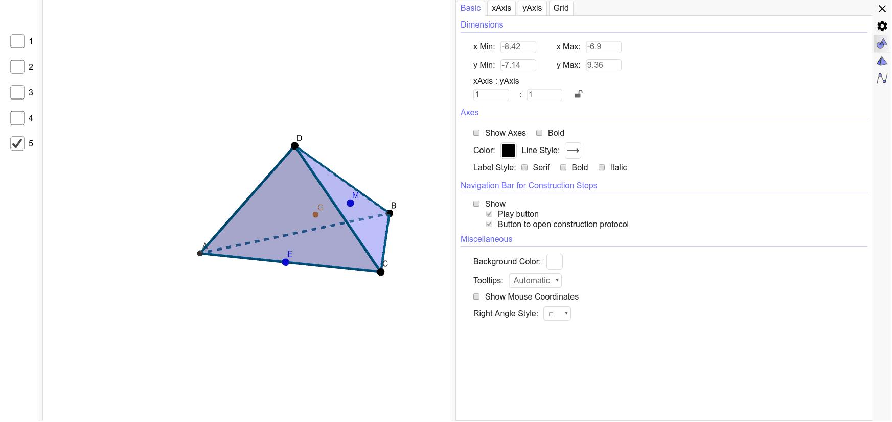 Точка М лежит в плоскости BDC. Постройте точку пересечения прямой АМ с плоскостью DBE. Press Enter to start activity