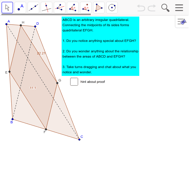 Challenge 37: Quadrilateral Areas Press Enter to start activity